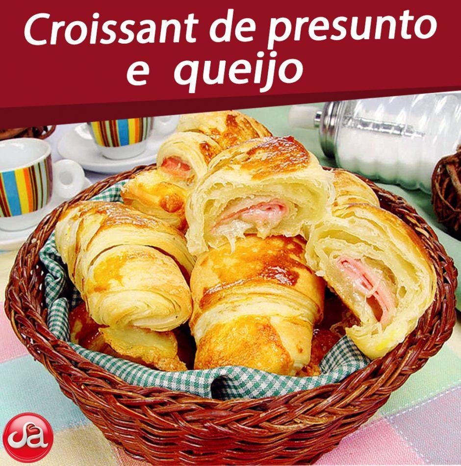 Croissant de presunto e queijo.